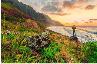 Inspiring Hawaii sunset