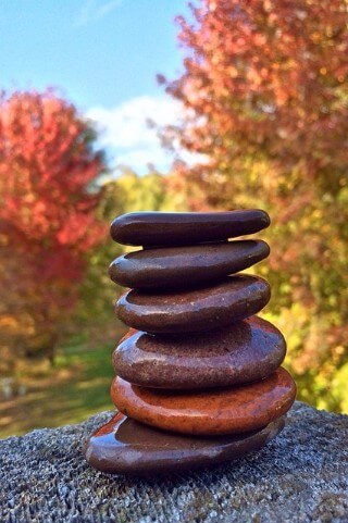 Stones balancing outdoors