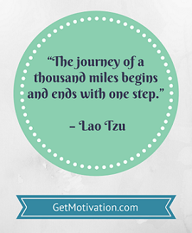 Journey of a thousand miles quote by Lao Tzu