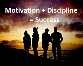 Motivation and Discipline equals Success
